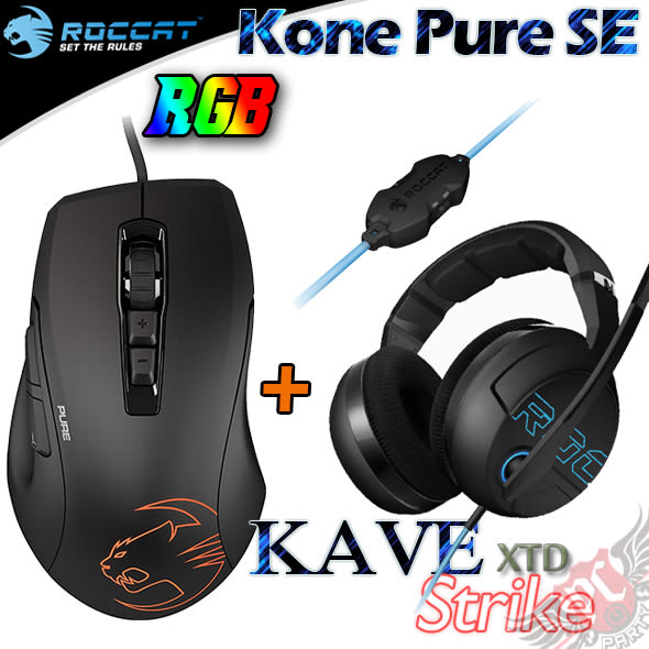 [ PC PARTY  ]    德國冰豹 ROCCAT KONE PURE SE RGB 光學滑鼠+ Kave XTD Stereo 2.0聲道 電競 耳機麥克風