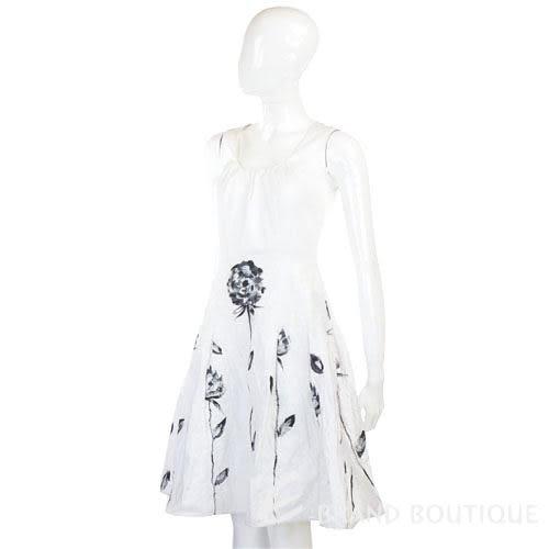 PIEIES UNIQUES 白色印染花卉無袖洋裝 0820167-20