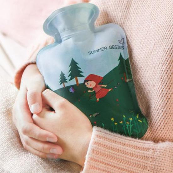 小紅帽卡通印花熱水袋 暖宮寶 暖手 暖暖包 熱水袋 防爆 經痛 熱敷袋   【P619】MY COLOR