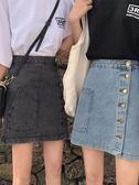 牛仔短裙女新款韓版矮個子穿搭a字裙子高腰ins超火半身裙 黛尼時尚精品