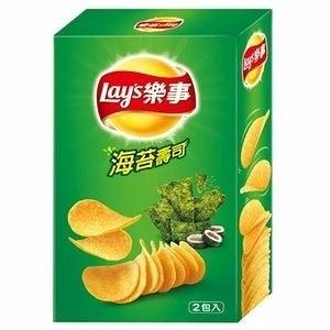 Lay's 樂事 新經濟包海苔壽司味洋芋片 96g【康鄰超市】