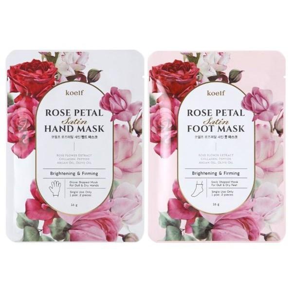 韓國 Koelf 玫瑰花瓣精華手膜/足膜(一對入) 款式可選【小三美日】