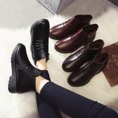 皮鞋 冬季加絨棉鞋保暖防滑女鞋舒適中年女士媽媽短靴子中老年-新主流