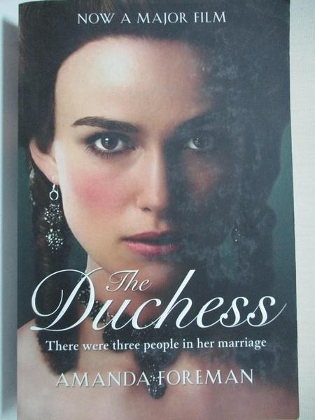 【書寶二手書T3/原文小說_IT5】The Duchess (Film tie-in)_Amanda Foreman