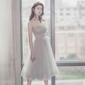 晚禮服女2019新款伴娘畢業生日派對宴會洋裝小禮服名媛連身裙聚會Mandyc