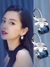 耳環女氣質韓國個性百搭簡約耳飾新款夸張耳墜琉璃櫻花耳圈