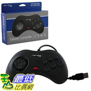 [106美國直購] 控制器 Retrolink USB SEGA Saturn Classic Controller [Black]