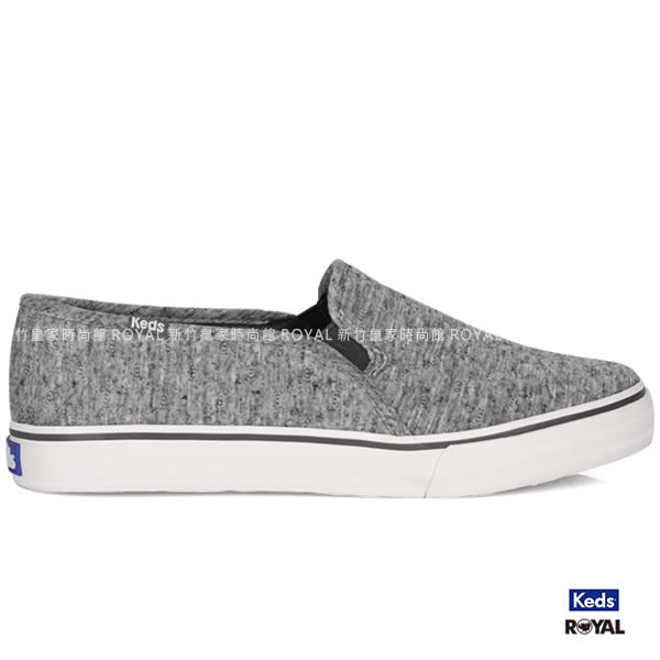 Keds 新竹皇家 Dbl Deck Quilted 灰色 布質  休閒鞋 女款 NO.I6939