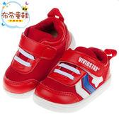 《布布童鞋》活潑寶寶紅色透氣機能寶寶學步鞋(13~18公分) [ O8V07XA ]