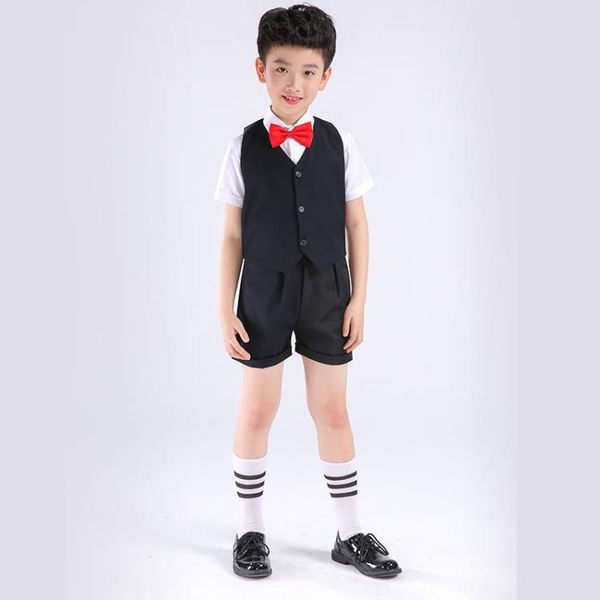售完即止-兒童花童禮服外套西裝男套裝中大童男孩禮服男童小孩演出服5-25(庫存清出T)