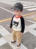 兒童毛衣嬰兒拼接針織衫毛衣秋裝兒童裝春秋寶寶男童韓版1歲3小童潮X1192 限時特惠