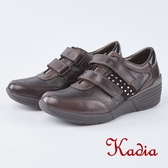 kadia .魔鬼氈楔型休閒鞋8952 70 咖啡色