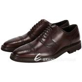 DOLCE & GABBANA 深咖啡色綁帶雕花牛津皮鞋 1410233-07
