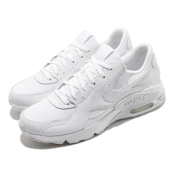 Nike 休閒鞋 Air Max Excee Leather 白 全白 氣墊 男鞋 女鞋 運動鞋【ACS】 DB2839-100