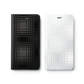 【00539】 [Apple iPhone 6 / 6S Plus (5.5)] ZENUS Mono Check Diary 金屬格紋皮套