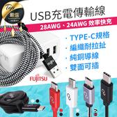 『現貨』【雙面款1cm】富士通 充電傳輸線 快充USB線雙面可插【HTK023】