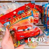 正版日本進口 CARS汽車總動員 入浴球 入浴劑 沐浴球 泡澡球 附隨機公仔 COCOS TJ009
