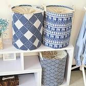 和風棉麻摺疊衣物整理收納桶 收納桶 衣物收納桶