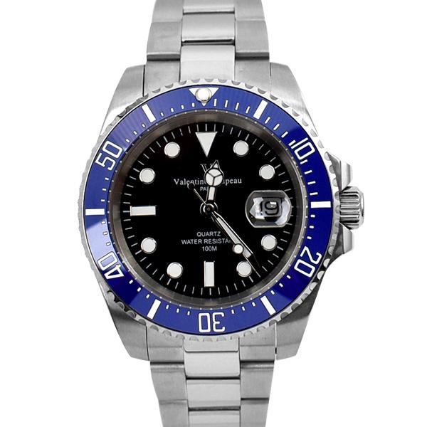 藍水鬼 范倫鐵諾.古柏簡約刻度鋼錶NEV101