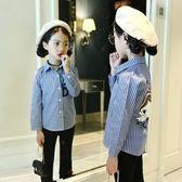 秋款女童上裝印花襯衫中大童女童秋裝童裝長袖上衣芊惠衣屋
