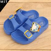 男童 POLI救援小英雄 警車裝飾 超輕量舒適柔軟EVA 休閒拖鞋 防水拖鞋 兒童拖鞋 MIT製造 59鞋廊