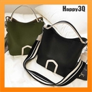 手提包斜背包水桶包素色包歐美時尚寬肩帶細肩帶百搭約會通勤上班包-白/綠/黑【AAA2653】預購
