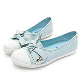 PLAYBOY微甜幸福 可愛蝴蝶結亮蔥便鞋-藍(Y6205)