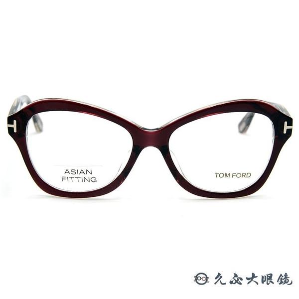 TOM FORD 眼鏡 TF5359F (透紅) 亞洲版 全框 近視眼鏡 久必大眼鏡