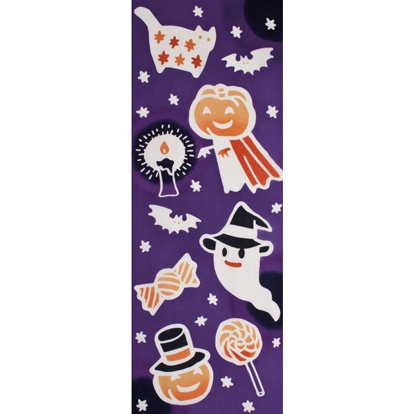 【日本製】【和布華】 日本製 注染拭手巾 萬聖節主題 不給糖就搗蛋圖案(一組:3個) SD-5089-3 -