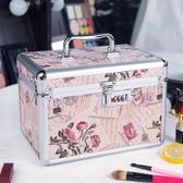 鋁合金化妝箱雙層大容量收納盒品大號便攜專業帶鎖化妝包手提PH3177【3C環球數位館】