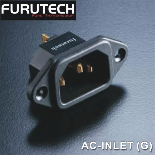 【勝豐群竹北音響】Furutech 古河 AC-INLET (G) 鍍金 焊接式AC電源座 /入口/尾座