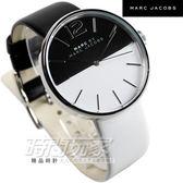 MARC JACOBS 精品錶 是黑是白撞色 造型皮帶女錶 MBM1366 marc by marc jacobs 防水手錶