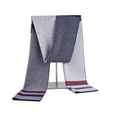 羊毛圍巾-保暖拼色針織提花男披肩3色73wh54【時尚巴黎】