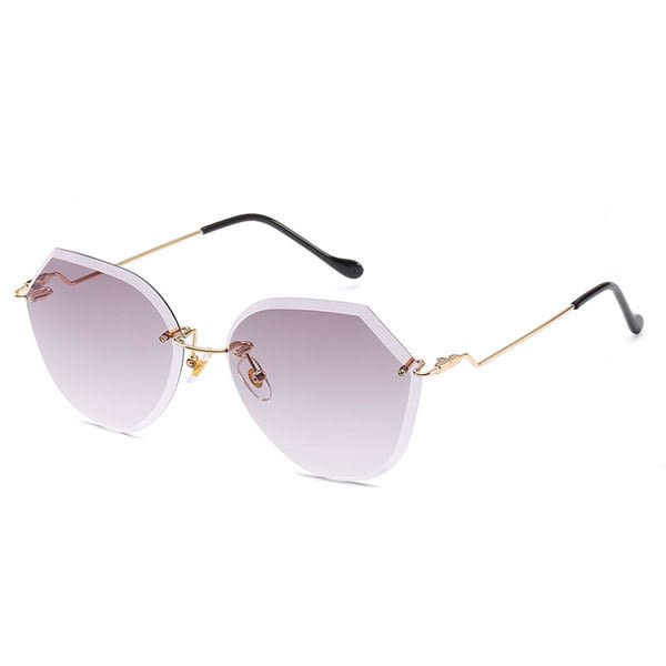 OT SHOP太陽眼鏡‧歐美時尚金屬腳架無框海洋鏡片墨鏡‧漸層灰/漸層茶/漸層藍粉/透明‧現貨‧U89