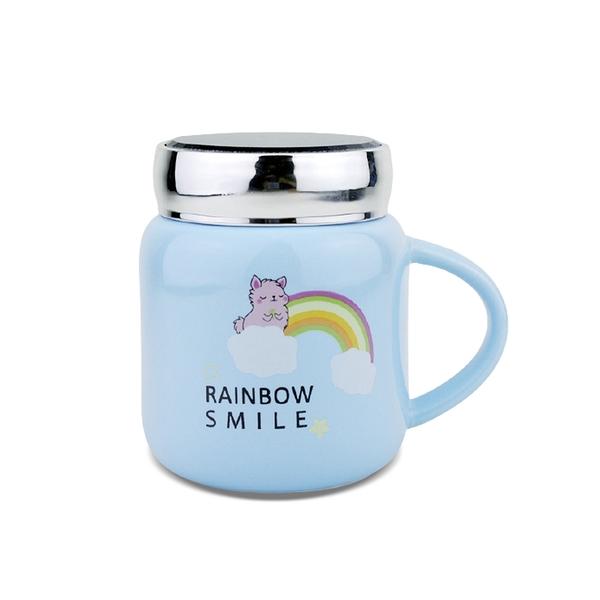 堯峰陶瓷 免運彩虹羊駝鏡面杯 單入 特殊鏡面設計 | 療育可愛 | 辦公室OL風