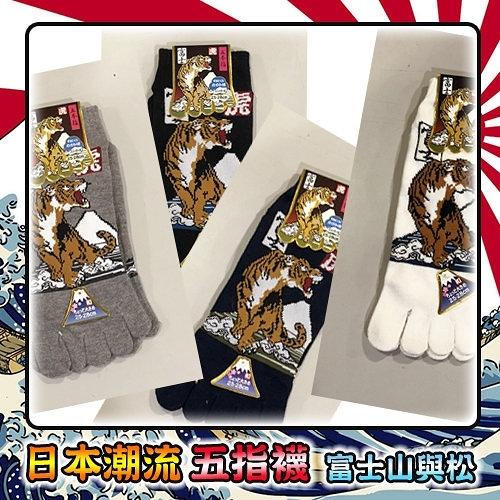 【富士山與虎】日本酷帥型男必穿潮流-五指襪!限量發售!