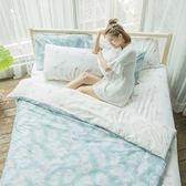 [SN]#U091#細磨毛天絲絨3.5x6.2尺單人床包被套三件組-台灣製