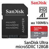 SanDisk Ultra micro SDXC 128GB 100MB/S 667X A1 高速記憶卡 附轉接卡(免運 終身保固) 128G SDSQUAR-128G