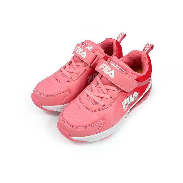 《FILA》兒童 氣墊慢跑鞋 粉紅 3-J808U-521