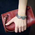 合金手鐲-夢想家-歐美百搭簡約葉子時尚植物手環/7色-0428