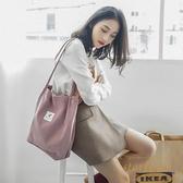潮帆布包包女單肩斜跨韓版大容量購物袋子【繁星小鎮】