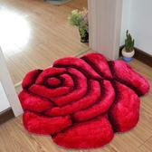 圓形地毯 歐式圓形客廳臥室床邊吊籃轉椅電腦椅玫瑰花房間兒童婚慶婚房地毯 莎瓦迪卡