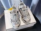 X-INGCHI 女款灰色增高運動休閒鞋-NO.X0393