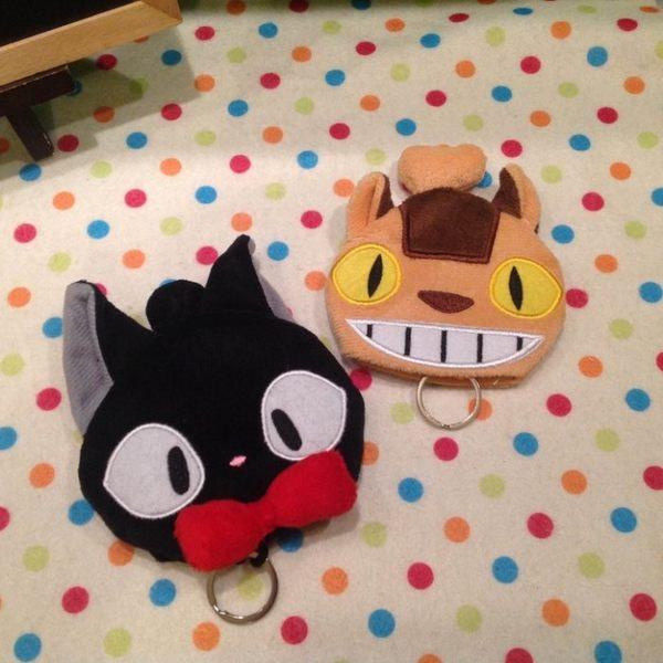 【發現。好貨】宮崎駿 龍貓 魔女宅急便 黑貓kiki 龍貓公車 鑰匙包 零錢包 毛絨鑰匙圈