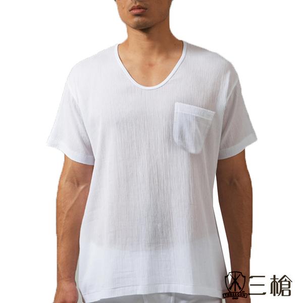 三槍牌3件組時尚型男縐縐布短袖衫HE432
