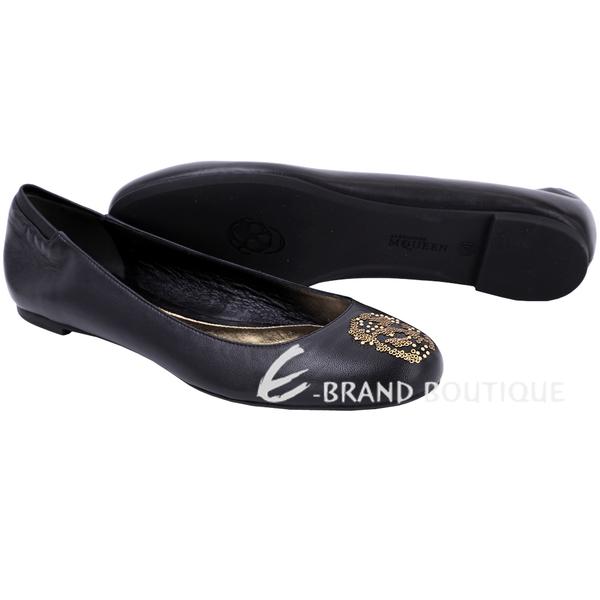 Alexander McQueen 亮片骷髏頭芭蕾平底鞋(黑色) 1540158-01