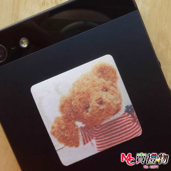 Mc賣禮物-MIT手機螢幕擦拭貼經典尺寸(1片)-寫真動物3【W11015】