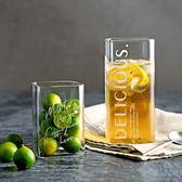 北歐風格方形【矮杯下單處】透明字母玻璃杯 咖啡杯 水杯 飲料杯 耐冷熱 早餐牛奶杯