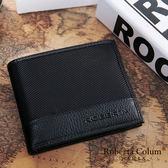 Roberta Colum - 雅痞時尚系牛皮款可拆式左右翻12卡2照短夾-黑色