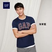 Gap男裝 LOGO系列純棉短袖圓領T恤 639065-海軍藍